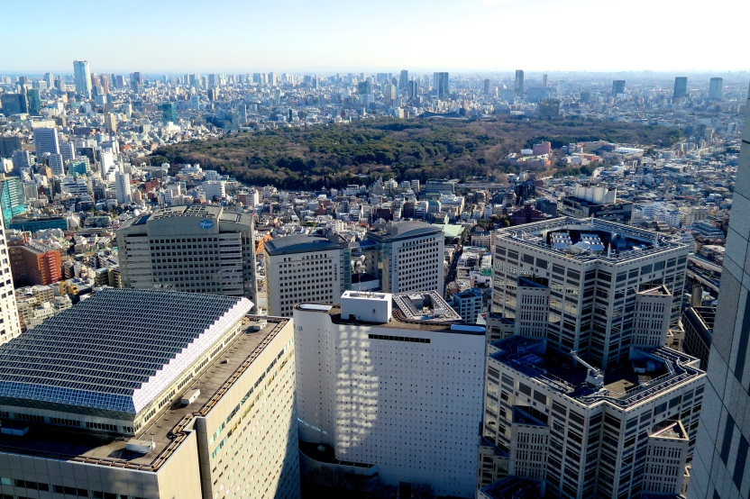 Panorama depuis la maire de Tokyo
