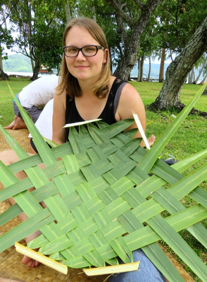 Atelier tressage de palmes