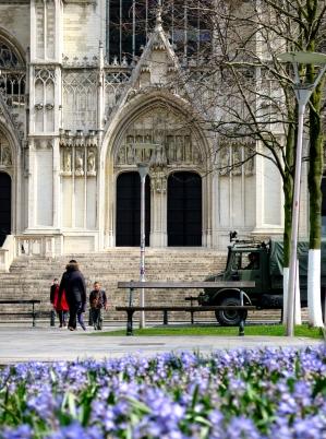 Parvis Cathédrale Place Ste Gudule