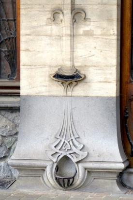 Pied de mur Art Nouveau