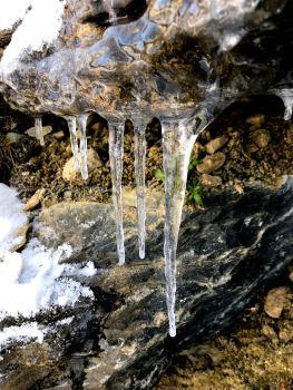 Stalagtites glace