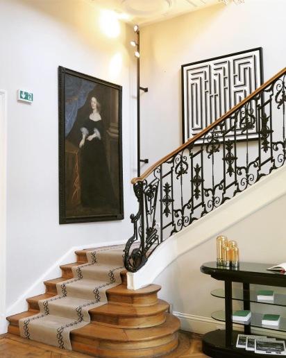 Escalier Relais Chateaux Clarance